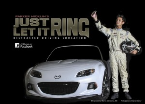 Mazda 2 distracted driving road to indy