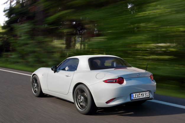 a power-retractable hardtop for the mazda mx-5 miata