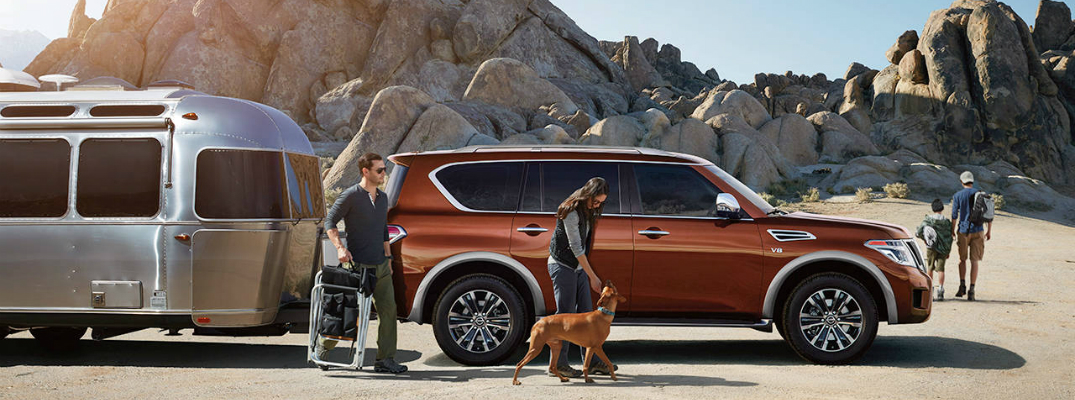 Standard and Available Features of the 2017 Nissan Armada Family Trip
