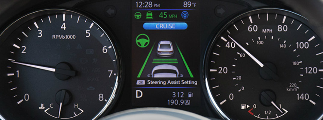 Nissan ProPILOT assist system on Rogue dashboard