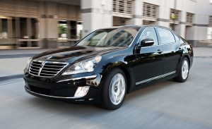 Exteriors of the 2016 Hyundai Equus