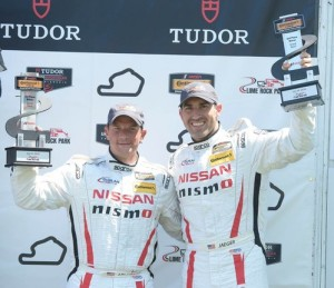 Nissan 2 thrid podium finish for the four races at Lime Rock