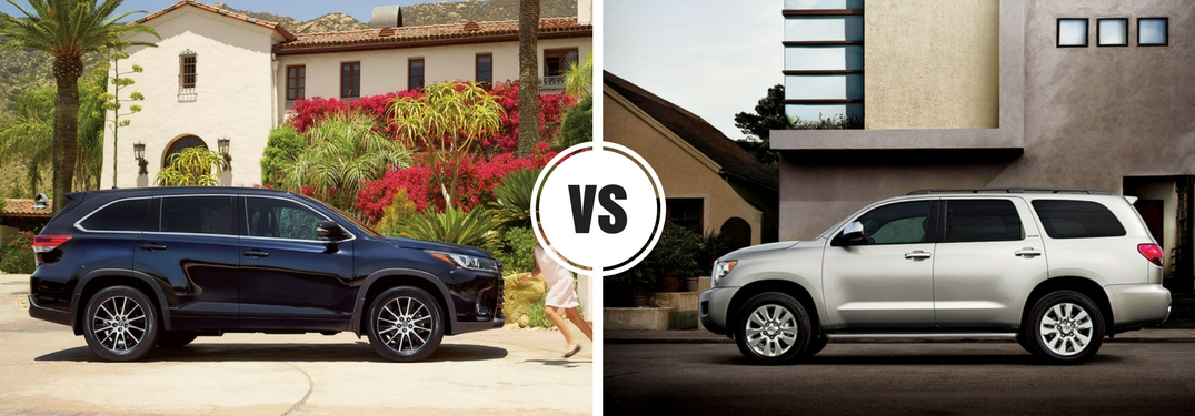 Is the Toyota Highlander bigger than the Toyota Sequoia