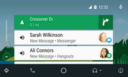Android Auto Interface Touchscreen