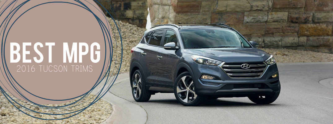 which 2016 hyundai tucson trim gets the best mpg. Black Bedroom Furniture Sets. Home Design Ideas