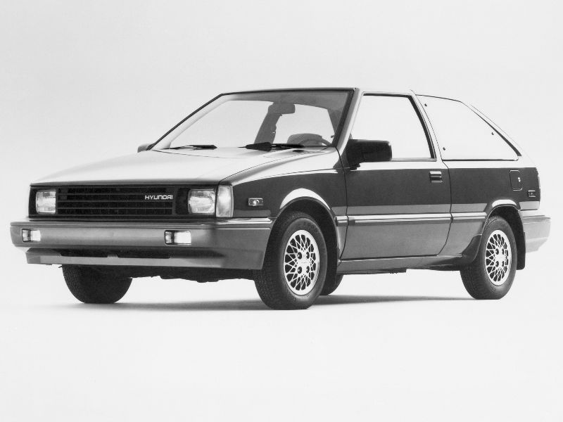 What was the first car that Hyundai sold in the US?