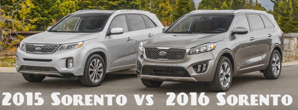 2016 kia sorento vs 2015 kia sorento. Black Bedroom Furniture Sets. Home Design Ideas