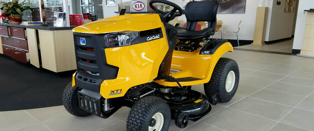 Free Cub Cadet XT1 riding lawn mower with every new Kia sold