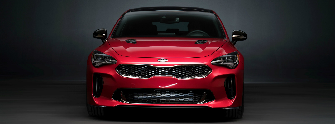 2018 Kia Stinger front view with grille