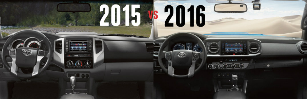 Superb 2015 Vs 2016 Toyota Tacoma Interior Dashboard Differences