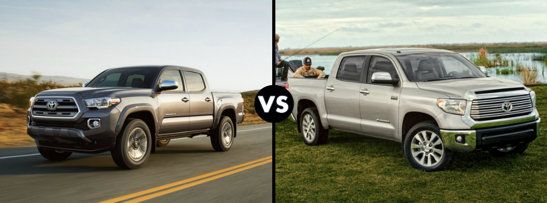 Toyota Tacoma V6 Towing Capacity >> Differences between the 2016 Toyota Tacoma and Tundra
