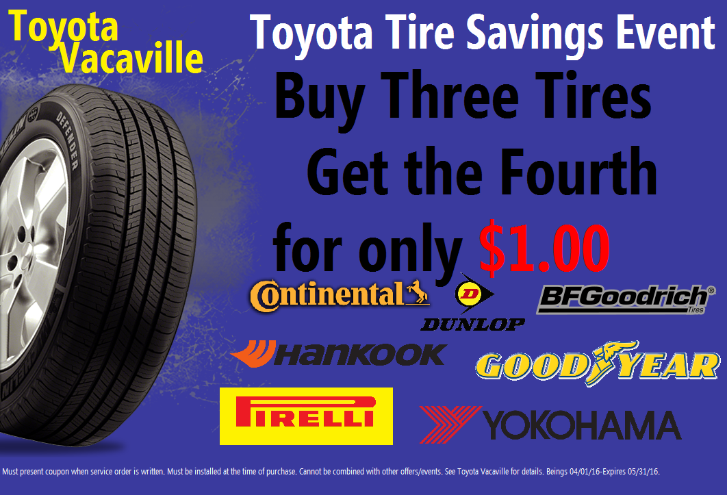 Toyota tire coupons