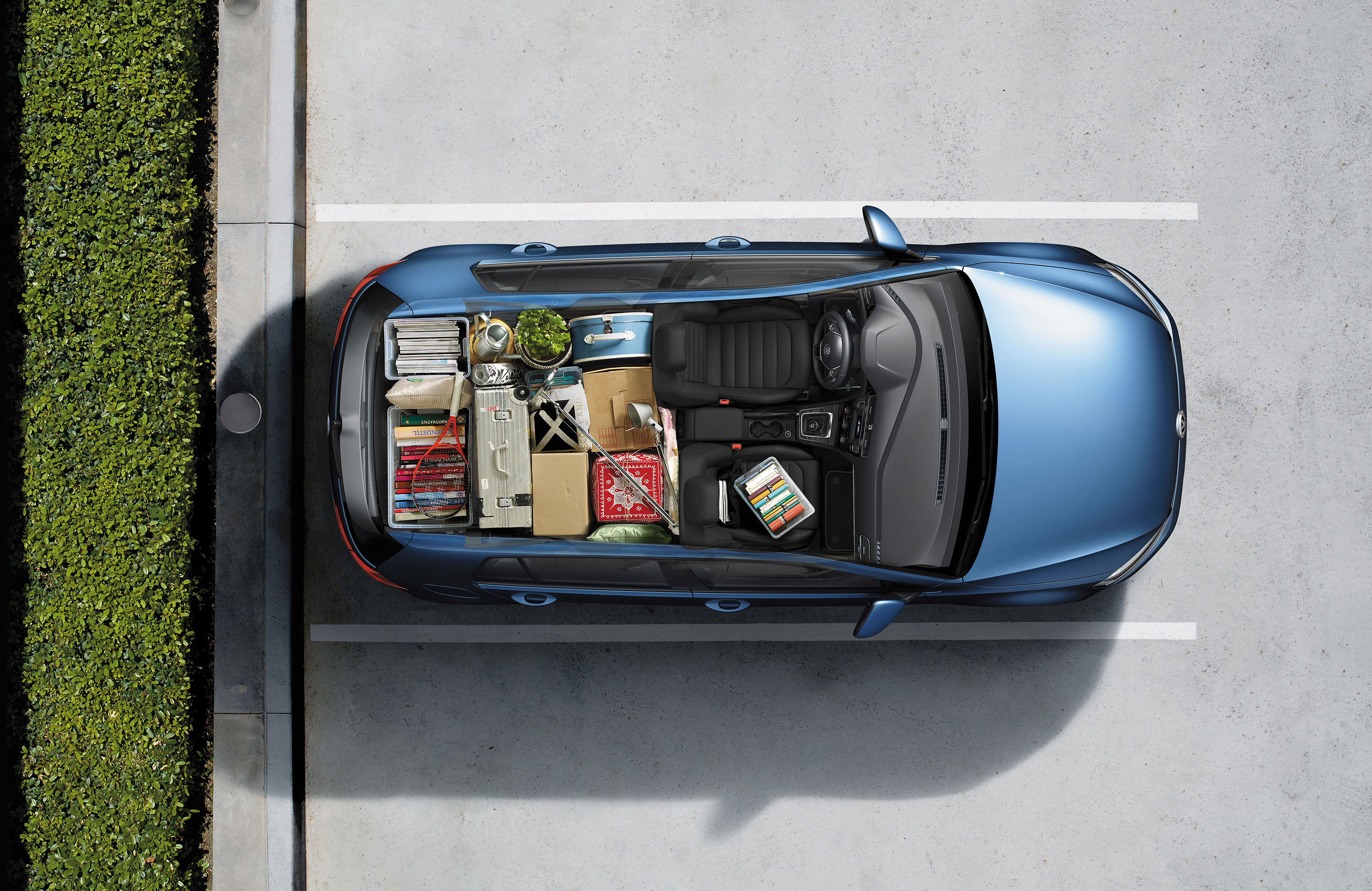 6 cars the Volkswagen Golf has more cargo space than