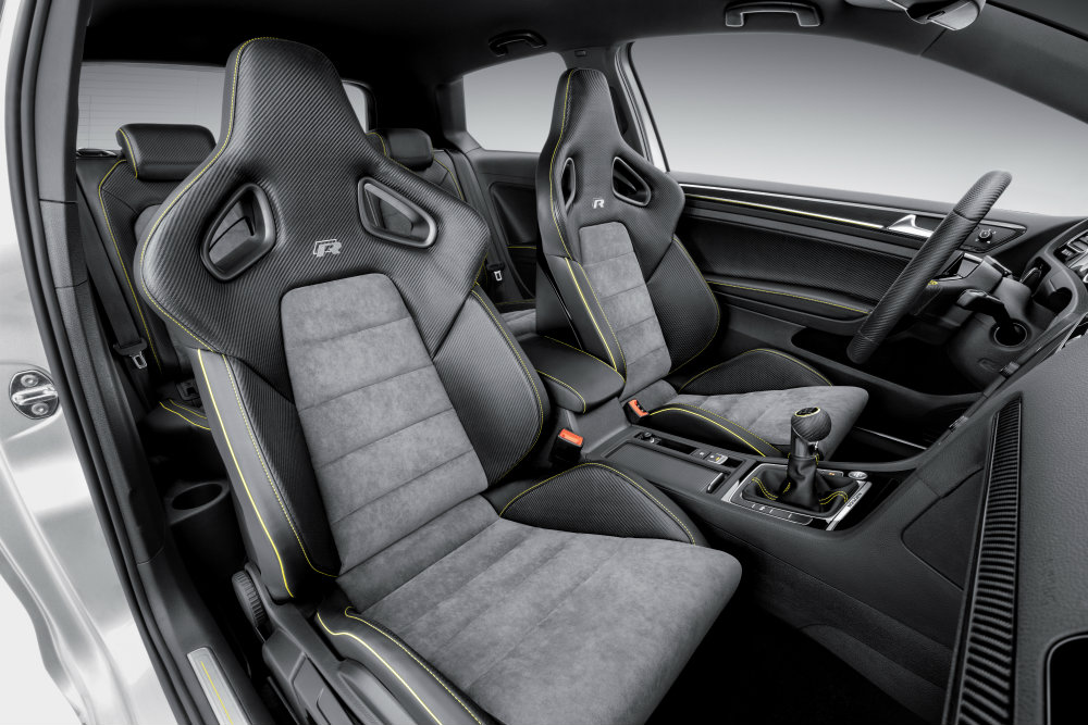 Vw Golf R400 Alcantara Cross Quilted Middle Seat Panels
