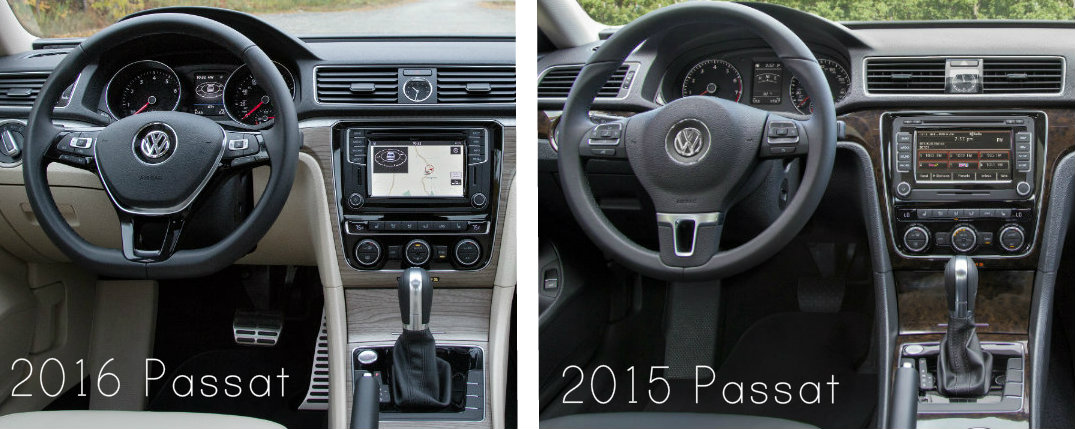 differences between 2015 and 2016 volkswagen passat. Black Bedroom Furniture Sets. Home Design Ideas