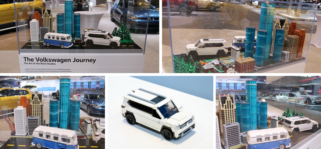 Volkswagen Lego Display At Chicago Auto Show