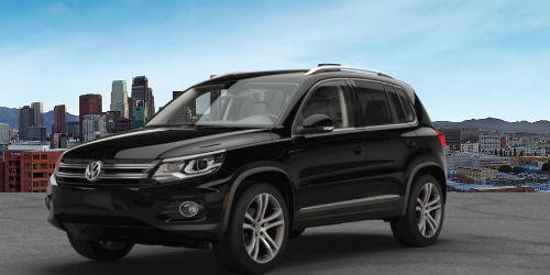 Is the VW Tiguan available in bright blue?