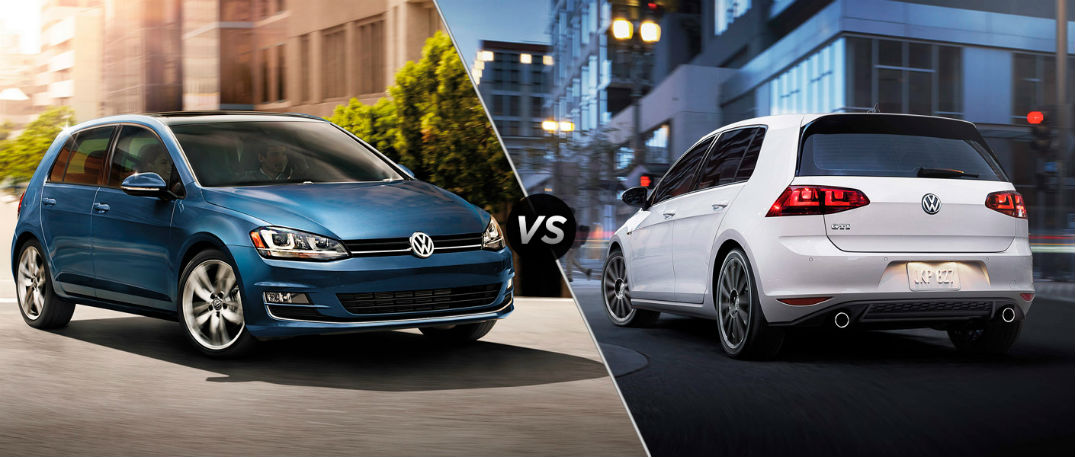 2016 volkswagen golf vs 2016 volkswagen golf gti. Black Bedroom Furniture Sets. Home Design Ideas