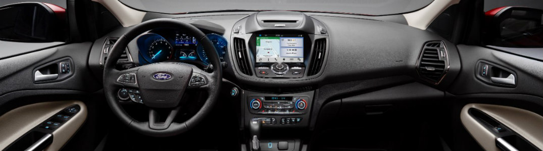 2017 Ford Escape dash and steering wheel