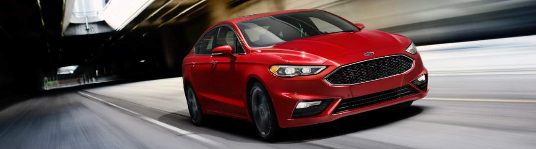 2017 Ford Fusion Sport red front