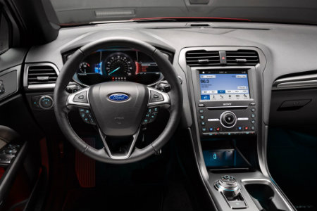 2017 Ford Fusion Sport dash and steering wheel