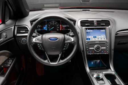 2017 Ford Fusion dash and steering wheel