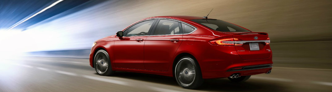 2017 Ford Fusion red side