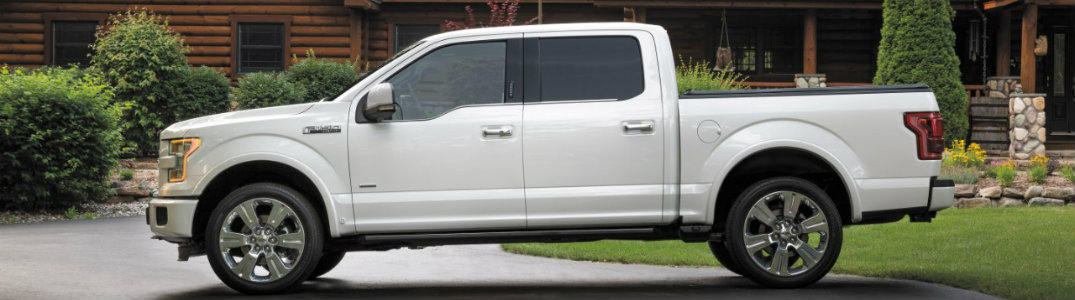 2016 Ford F-150 side white