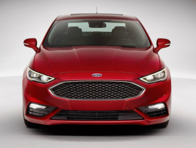 2017 Ford Fusion front red