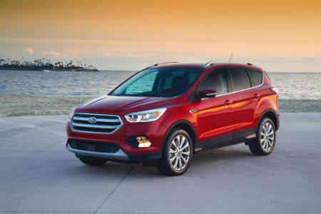 2017 Ford Escape red