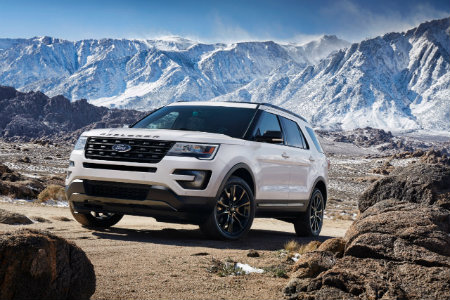 2017 Ford Explorer white