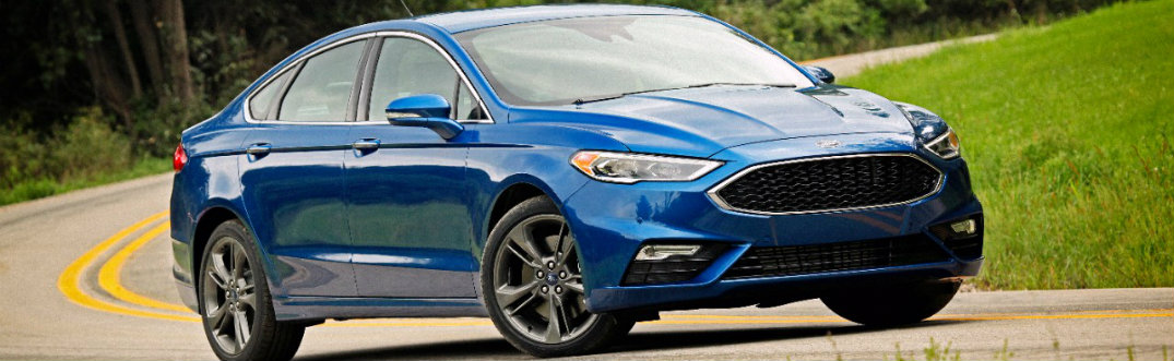 2017 Ford Fusion Sport blue