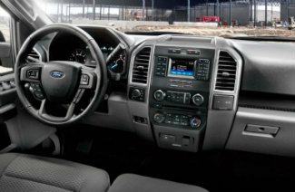 2017 Ford F-150 dash and display