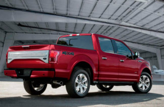 2017 Ford F-150 back red