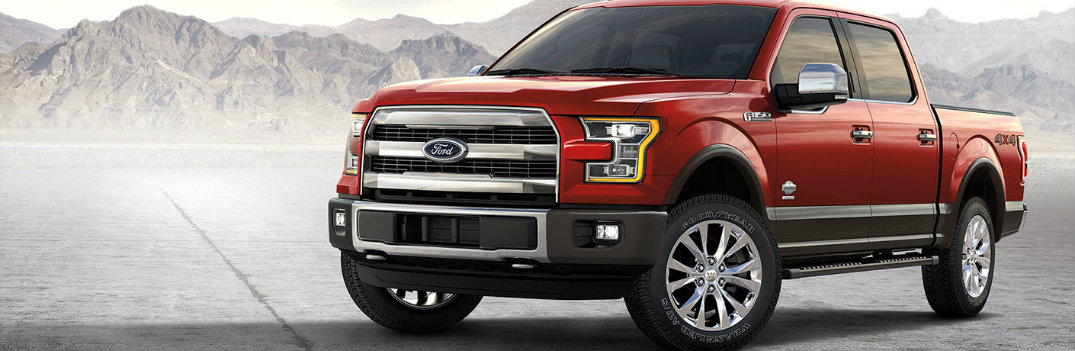2017 Ford F-150 front red