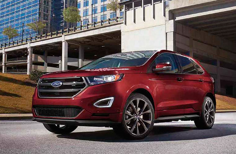 2017 Ford Edge front red