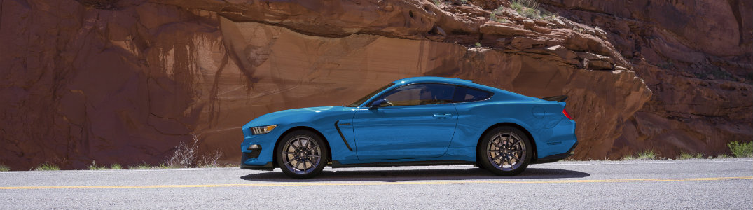 Ford Mustang Side View Blue