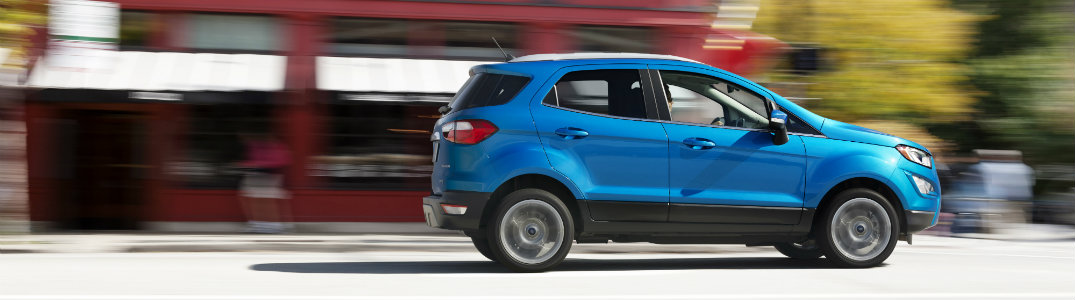 Ford EcoSport blue side