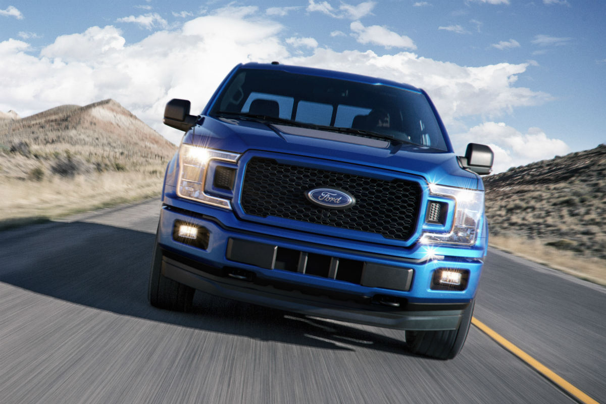 2018 Ford F-150 front exterior grille and headlights_o