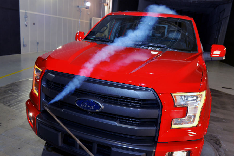 Ford F-150 in new Ford wind tunnel_o