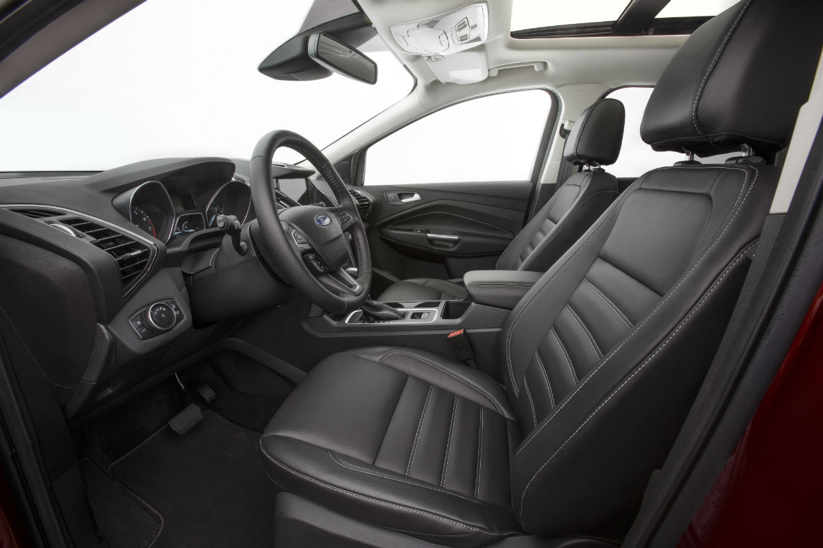 2017 ford escape front interior passenger space and new storage features o