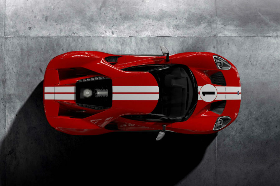 Ford Gt  Heritage Edtion Birds Eye View Exterior_o