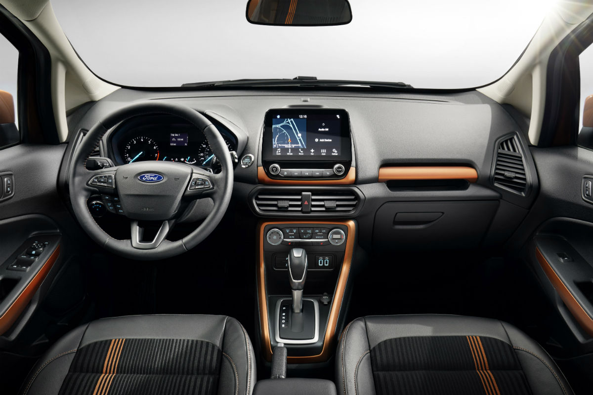 2018 ford ecosport front interior driver dash and infotainment system o