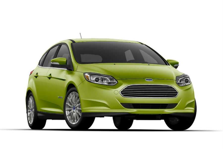 2018 Ford Focus Electric New Outrageous Green Metallic Exterior Color