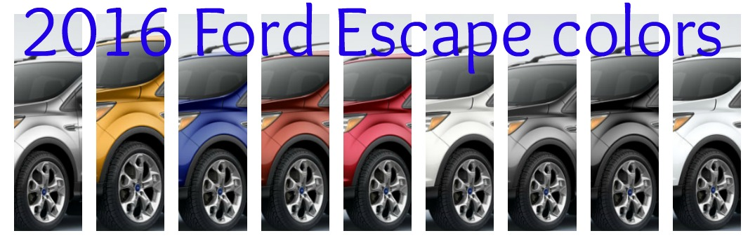 2016 Ford Escape Trims And Colors