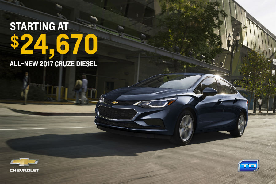 how fuel efficient is the 2017 chevy cruze diesel sedan. Black Bedroom Furniture Sets. Home Design Ideas