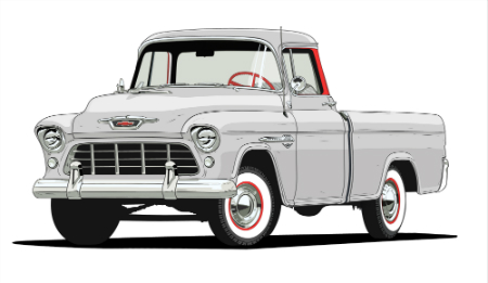 1955 chevy 3124 series cameo carrier