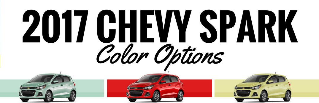 2017 Chevy Spark Color Options
