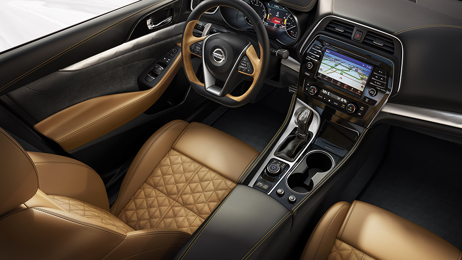 2016 nissan maxima alcantara inserts interior color options. Black Bedroom Furniture Sets. Home Design Ideas