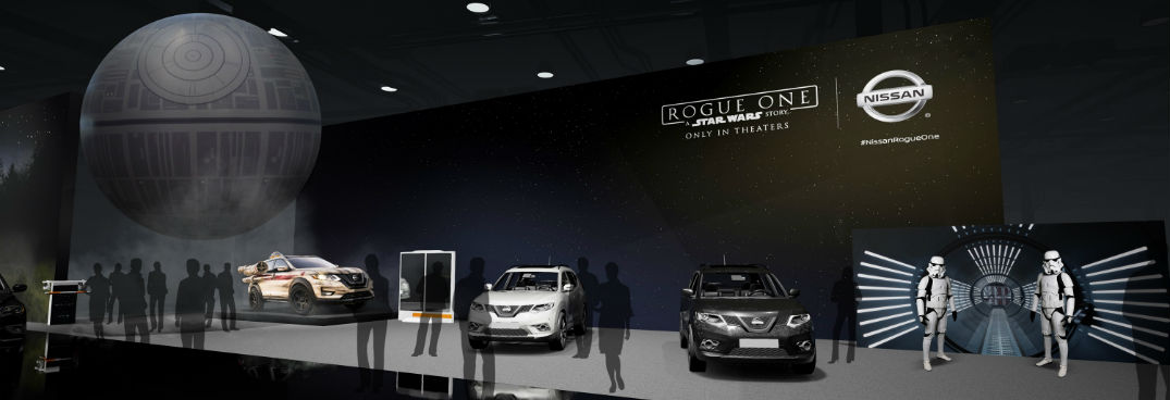 2017 Nissan Rogue Star Wars exhibit Stormtroopers at Chicago Auto Show